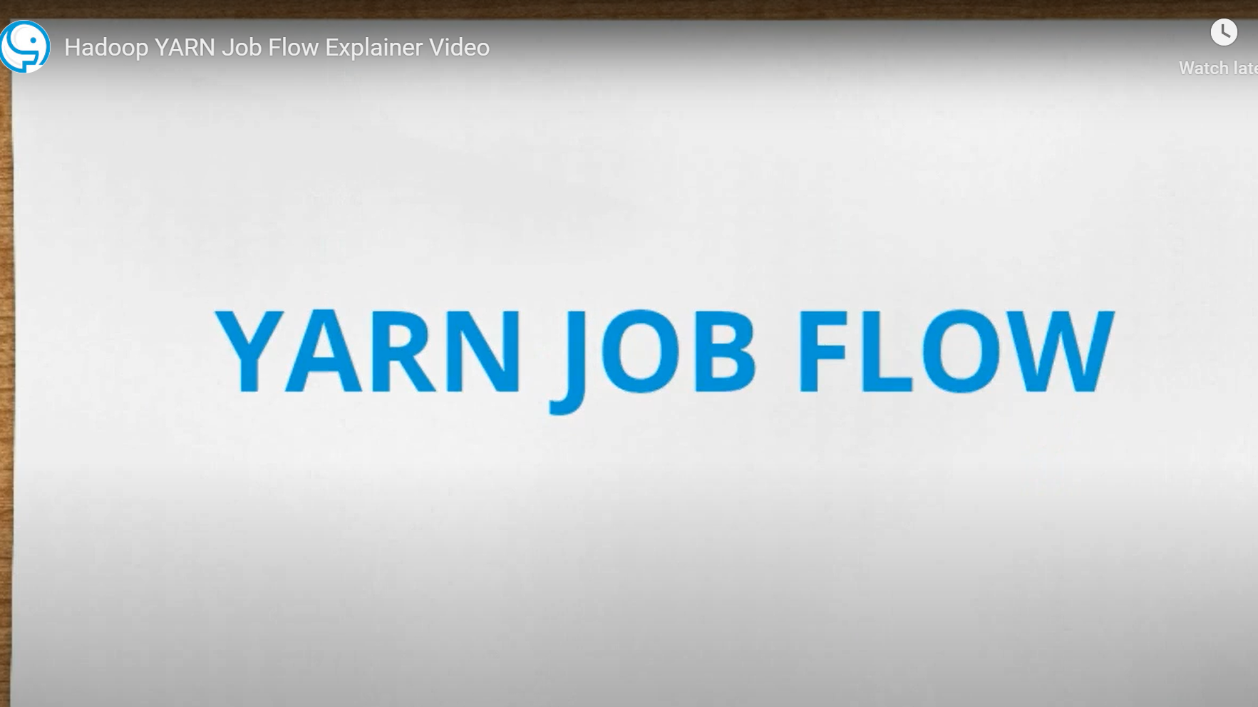 Hadoop YARN Job Flow