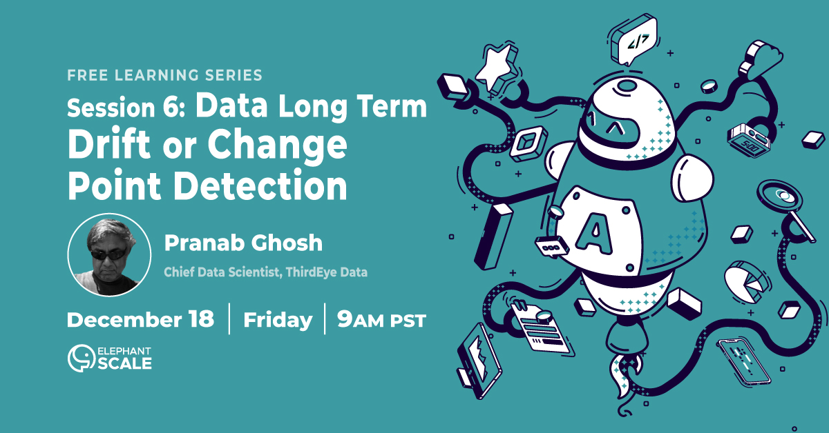 Anomaly Detection Session 6: Data long term drift or change point detection